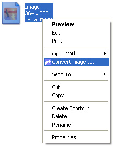 Picture of the right click menu.