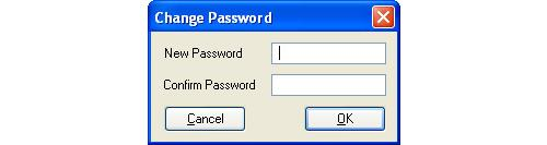 Image of Change Password Window